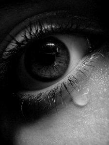 teary eyes